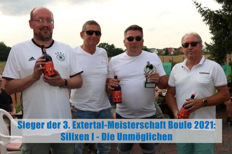 3. Extertal-Meisterschaft Boule 2021
